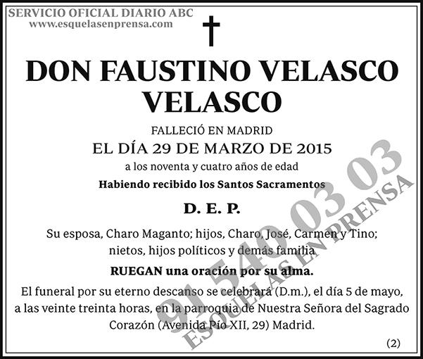 Faustino Velasco Velasco